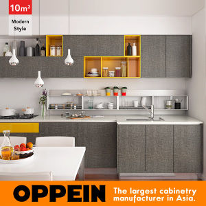 10 Square Meters Straight-Line Modern Style Kitchenette Kitchen Design (OP16-M06) pictures & photos