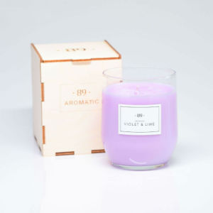 Violet & Lime - Colorful Wax Romantic Candle with Gift Box
