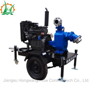 Non-Clogging Self Priming Sewage Diesel Trailer Pump Sets pictures & photos