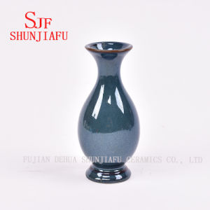 Mini Floret Bottle Ceramic Textured Vases Stoneware Vases Sapphire Floret Bottle pictures & photos