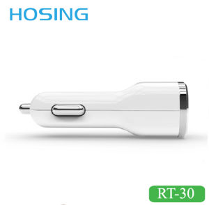 Newest USB Port White/Black Color 5V 2A Car Charger for Smartphone pictures & photos