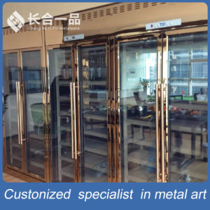 Customized 8k Mirror Rose Gold Stainless Steel Wine Cellar Cabinet pictures & photos