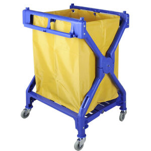 Plastic Linen Trolley with Solid Wheels pictures & photos