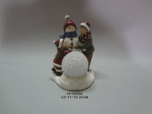 Christmas Children Resin Statue Candle Holder pictures & photos