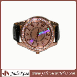 2017 Rose Gold Casual Quartz Watch Leather Strap Men Watches pictures & photos