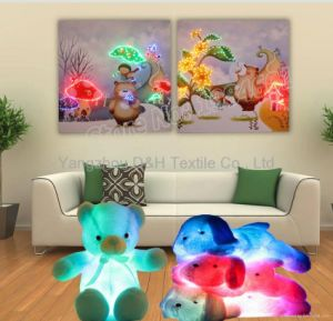 Hot 2PCS Sets Optical Fiber (NOT LED) Luminous Painting Modern Home Decoration Painting with Remote Controller pictures & photos