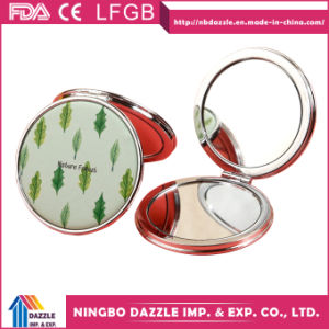 Cheap PU Compact Cosmetic Pocket Make up Mirror pictures & photos