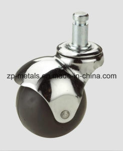 Rubber/PVC Screw Ball Caster Wheel pictures & photos