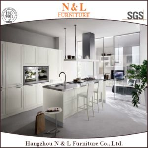 Custom Made Modern Home Furniture PVC Wood Kitchen Cabinet pictures & photos