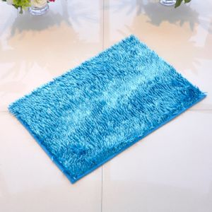 Shiny  High Pile Bathroom Door Mat with Non Slip Base