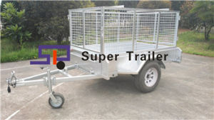 Hot DIP Galvanized Garden Box Trailer with Mesh Cage
