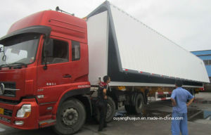 14.95 Meters Skeleton Match with 17.2 Meters Wing-Opened Semitrailer pictures & photos