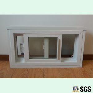 White Colour UPVC Profile Sliding Window with Mosquito Net, Sliding Window, UPVC Window, Window K02094 pictures & photos