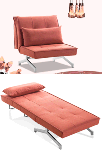 All Matel Frame Strong Fabric Sofa and Extra Bed pictures & photos