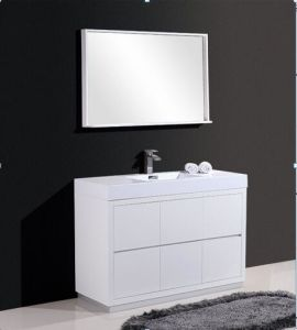 Resin Basin Beautiful Bathroom Cabinet (white) pictures & photos