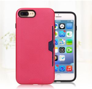 for Apple iPhone 7plus 6plus Cell Phone Case with Slid Card Holder Mobile Back Cover Shell (XSEH-040) pictures & photos