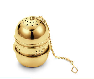 Unique Tea Egg Bag with Silver Coating Tea Strainer pictures & photos
