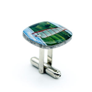 China Customized Printed Metal Cufflinks pictures & photos