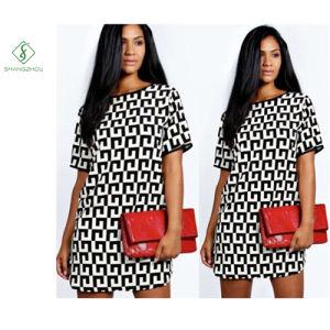 Newest Fashion Euramerican Chiffon Cotta Printed Dress Maxi Dress Factory pictures & photos