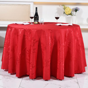 Wedding Hotel Restaurant Table Cloth in Luxury (DPF107104) pictures & photos