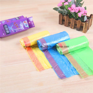 Cheap Trash Drawstring Bag in Roll Plastic Garbage Bags pictures & photos