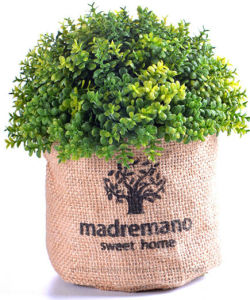Different Artificial Plants (Cherry bay/Thyme/Rosemary etc) in Flax Bag for Indoor&Outdoor Decoration pictures & photos