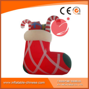 Inflatable Christmas Socks Prop Decoration H1-602 pictures & photos