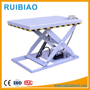 1ton Workshop Mini Hydraulic Electric Scissors Lift Table Work Table pictures & photos