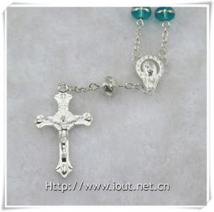 Glass Beads Decade Rosary with Cross, Glass Decade Rosary (IO-ce083) pictures & photos