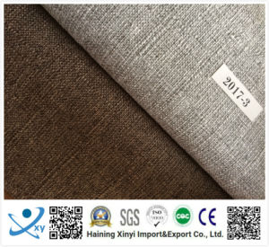 Crease Resistant 100% Polyester Imitation Linen Waterproof Sofa Fabric pictures & photos