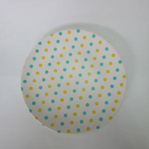 Bamboo Fiber Round Big Plate Paisley Design Table Ware Dinner Ware pictures & photos