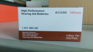 Zinc Air Battery 1.4V A675/A10/A13/A675 Hearing Aid Battery pictures & photos