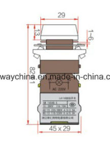Illuminated Keyway Push Button Switch with Certification pictures & photos
