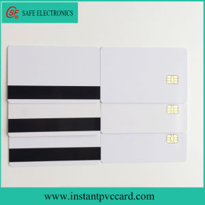 Dual Sides Printable Magnetic Stripe 4442 Smart IC Card pictures & photos
