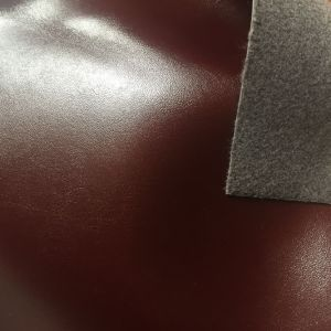 PU Lining Fabric Burnished Synthetic Leather for Sandals Insole pictures & photos