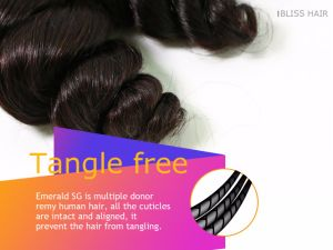 Brazilian Virgin Hair Spring Wave Natural Color 3 Pieces in One Pack pictures & photos
