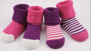 Good Quality Cotton Terry Warm Winter Baby Socks pictures & photos