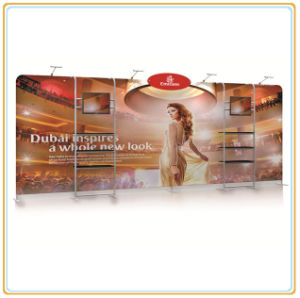 Large Tension Fabric Backdrop Display Wall with Double TV Racks pictures & photos