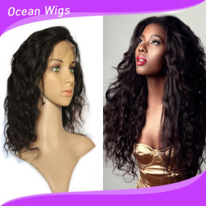 Hot Selling 150% Density 18inch Full Lace Wig Brazilian Human Hair pictures & photos