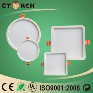 2017 Plastic Round&Square Panel Light 6W 18W pictures & photos