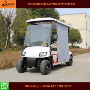Good Quality 4 Passenger Electric Golf Cart with Sun Shade pictures & photos