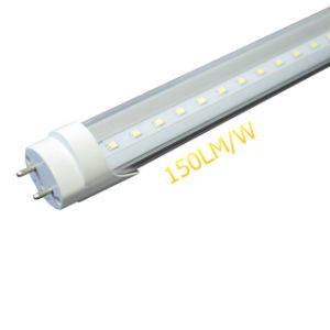 High Efficiency Clear Cover/Plastic Cover 150lm/W 24W T8 LED Tube Light pictures & photos