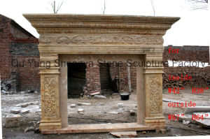 Fireplace Mantel Marble Fireplace Stone Fireplace Mfp-028 pictures & photos
