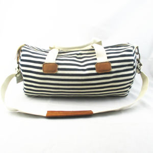 Women′s Stripe Duffle Bag pictures & photos