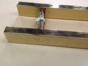 Mosaic Gold Stainless Steel Glass Pull Handles pictures & photos