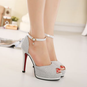 2017, Spring and Summer New European Fashion High-Heeled Sandals, Fish Mouth Waterproof Taiwan, Hasp, Fine with Women′s Shoes pictures & photos