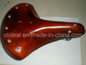 Cow Leather Bicycle Saddle for 28′′