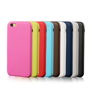 Mobile Phone Colorful PU Leather Skin Cover Case for iPhone 6 Back Housing Cover