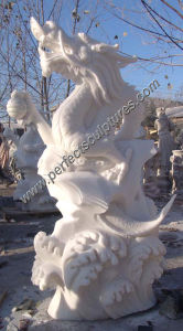 Antique Stone Marble Dragon for Feng Shui Statue Sculpture (SY-T023) pictures & photos