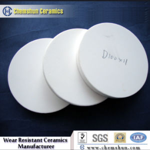 Round Alumina Industry Ceramic Lining Tile with Size D100*11mm pictures & photos